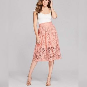 NEW GUESS BY MARCIANO Womens Xing Lace Midi Skirts
